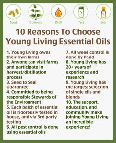 10 Reasons to choose Young Living essential oils.  www.lavenderlobby.com