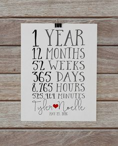 Good One Year Dating Anniversary Gifts For Him : + ideas about First Anniversary on Pinterest One Year Anniversary ...
