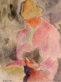 Charles Demuth - Man with Book (1915 )