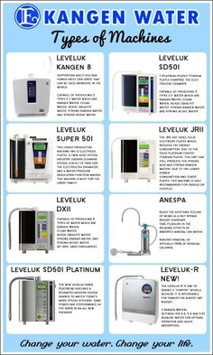 Kangen water systems. More choices