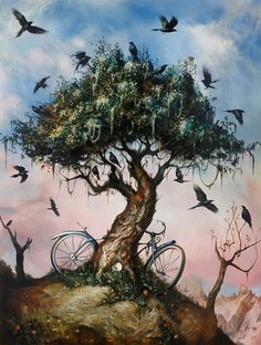 """Esao Andrews New Work for """"Epilogues"""" at Jonathan LeVine Gallery 