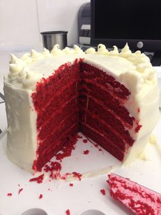 Another birthday at work called for another homemade birthday cake! But not just any cake. The birthday girl requested Red Velvet…so I did a lot of research, merged a couple recipes, threw in…