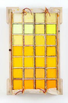 Hues of Yellow  #dravetart #art #louisboudreault #boxes #painting #colour