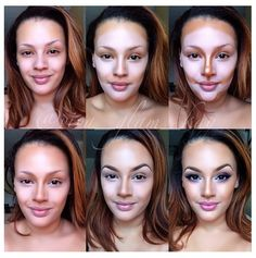 Contouring and highlighting step by step. Find the best contouring products on www.contouring101.com