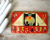 Rebhan Water Color Circus Tin Vintage Cirque Made In Germany Child's Art Paint Set