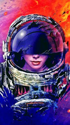 Sci Fi Wallpaper, Wallpaper Space, Galaxy Wallpaper, Space Artwork, Cool Artwork, Science Fiction, Astronaut Wallpaper, Astronauts In Space, Space Girl