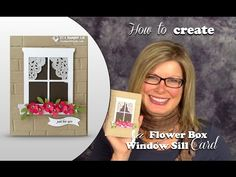 How to make a Window Sill Flower Box Card featuring Stampin Up - YouTube