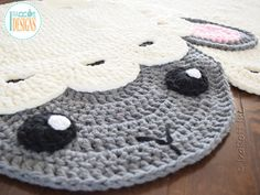 NEW PATTERN Baa Baa Easter Lamb Rug PDF Crochet Pattern with