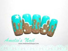 Mint kawaii nails