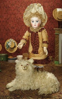The Memory of All That - Marquis Antique Doll Auction: 60 Gorgeous and Very Rare French Bisque Bebe A.T. by Thuillier with Original Signed Wig