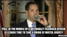 Marco Rubio Water Bottle incident - too funny!