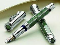Silver and Jade fountain pen #GiftsforMen #men #mancave #modernman #Europens #MakeYourMark LINK: www.europens.co.uk