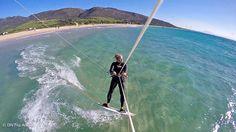 premiers bords en kitesurf à Tarifa le meilleur spot d'espagne