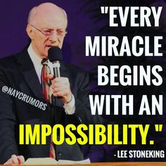"""""""Every miracle beings with an impossibility."""""""