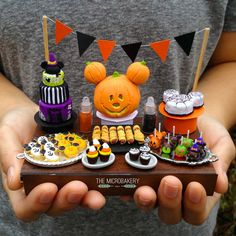 Halloween Disney Inspired Miniature Food by TheMicroBakery on DeviantArt