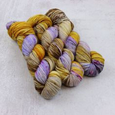 Squish DK - Hand Me Down - DK yarn from spunrightround.com Check for more beautiful colors in sock and DK #handdyedyarn #spunrightround #dksquish