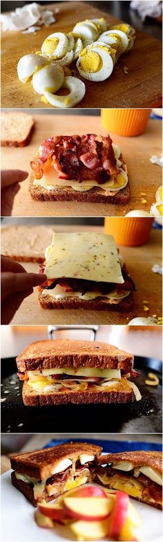 Ultimate Grilled Cheese Sandwich Ingredients : 1 Tablespoon Butter 1 whole Medium Onion, Halved And Sliced 4 slices Bacon, Cut In...
