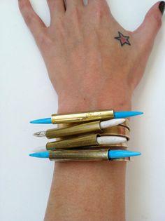 Turquoise Dagger Cuff Bracelet