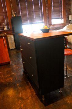 Kitchen Island Made From A Dresser kitchen island made from an old empire dresser & butcher block