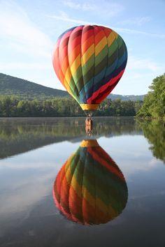 Springtime at Mt Pisgah from a hot air balloon - near Asheville ...