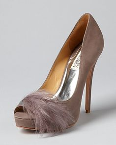 Not a fan of peep toes for my self but these Badgley Mischka are cute