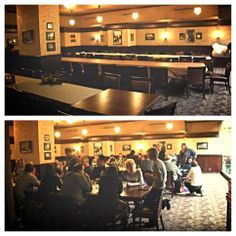 Our dining room can accommodate any size party!  (Photo taken at our new State and Rush location)  #connies #chicago #classic #pizza #dining #food