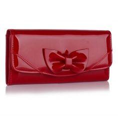 Peňaženka lakovaná Mašľa, červená 16042
