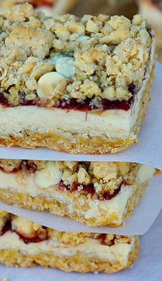 Oatmeal Cranberry Cheesecake Bars