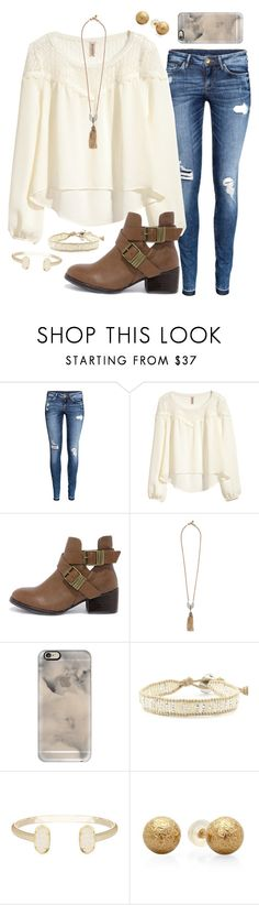 """Friday!!!! "" by madelyn-abigail ❤ liked on Polyvore featuring H&M, Breckelle's, Lulu Frost, Casetify, Chan Luu and Kendra Scott"