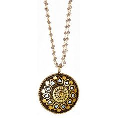 Check out this item at One Kings Lane! Mother-of-Pearl Mandala Pendant Necklace