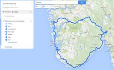 Southern norway map of driving route over mountainous terrain and norway road map rs motorhomes round road trip in norway publicscrutiny Choice Image
