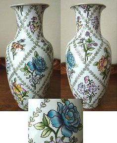 """ORIENTAL ACCENT 13"""" LARGE Chinese Porcelain Vase - OLD"""