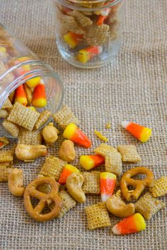 10 Healthy Homemade Halloween Treats For Kids! Homemade Halloween Treats for Kids! 10 Healthy Homemade Halloween Treats For Kids! Homemade Halloween Treats for Kids! Disney's Halloween Treat, Homemade Halloween Treats, Halloween Snacks For Kids, Halloween Cans, Halloween Treats For Kids, Chex Mix, Harvest, Dietitian, Vegan