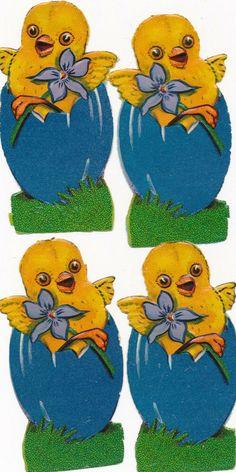 ORIGINAL Oblaten DIE CUT SCRAPS Ostern Easter 4 x Osterkücken Die Cutting, Scrap, Kids Rugs, The Originals, Ebay, Paper, Tat, Nursery Rugs