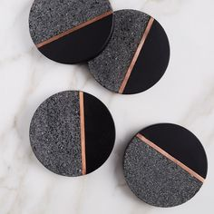 West Elm offers modern furniture and home decor featuring inspiring designs and colors. Create a stylish space with home accessories from West Elm. Concrete Crafts, Resin Crafts, Resin Art, Agate Coasters, Diy Coasters, Modern Coasters, Ceramic Coasters, Glass Coasters, Beton Design