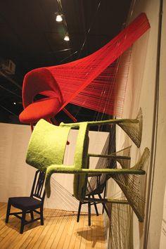 Tanya Aquiniga, chair installation
