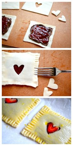 Homemade Strawberry & Nutella Poptarts!! Happy Valentine's Day or for just-because days too.