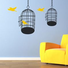 Whether you're getting ready to spread your wings or celebrating your chicks flying the nest, these Birdcage wall stickers provide the perfect focal point to any room. With two bold black cage designs. Wall Stickers Red, Wall Decals, Floor Stickers, Wall Art, Red Candy, Bird Cages, All Wall, Beautiful Space, Adhesive Vinyl