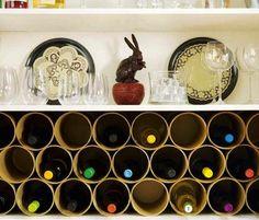 ReadyMade-bottle-pocket-DIY-wine-rack... http://www.bhg.com/decorating/do-it-yourself/