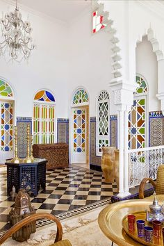 Take a look at these Moroccan Interior Design Ideas for inspiration. Moroccan style living room furniture suggestions that will create an authentic Moroccan feel. Modern Moroccan, Moroccan Design, Moroccan Decor, Moroccan Style, Moroccan Bedroom, Moroccan Lanterns, Ethnic Design, Design Marocain, Style Marocain