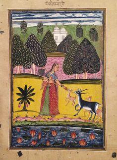 Todi Ragini. India, Northern Deccan, Aurangabad, circa 1670's