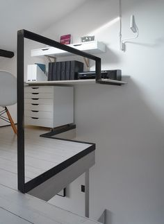 white washed (limed) floors with white walls and steel (CPR Residence by  R)