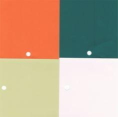 We started with a Benjamin Moore color palette of Tarrytown Green HC-134, Dill Pickle 2147-40, Mascarpone AF-20, Tropical Orange 2170-20.