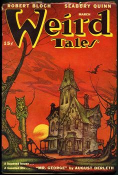 Weird Tales, March 1947. Cover art by Boris Dolgov.