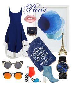 """""""Parisian blues"""" by beanpod ❤ liked on Polyvore featuring Crate and Barrel, Esteban Cortazar, Rolex, Public Desire, Kat Maconie, LULUS, Chanel and Lime Crime"""