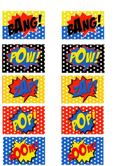 Free printable comic book word cut outs