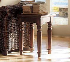 Hyde Turned-Leg Side Table #potterybarn