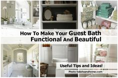How To Make Your Guest Bath Functional And Beautiful - http://www.diyprojectsworld.com/how-to-make-your-guest-bath-functional-and-beautiful.html