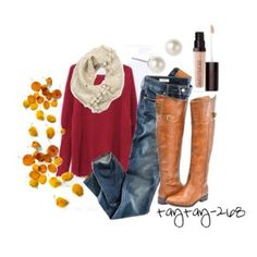 Fall Outfit: Cherry Red
