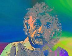 Albert Einstein Pop Art Smoking